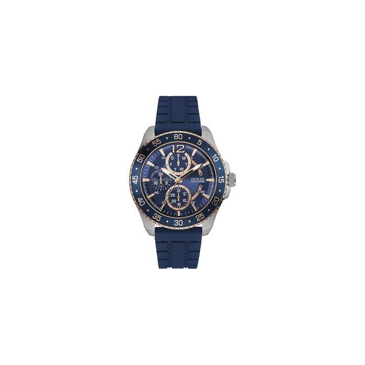 Zegarek męski Guess Jet W0798G2 to model z wyjątkową kompozycją kolorów. Stal wraz granatem i złotym kolorem tworzą wspaniały wzór przyciągający uwagę. Czasomierz skierowany do mężczyzn, którzy cenią sobie ciekawe dodatki w garderobie.  #zegarek #zegarki #timetrend #guess #fashion
