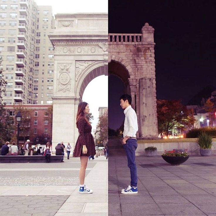 Couple Illustrates Their Long Distance Relationship Through Diptychs  Liseok and Shindanbi are in a long distance relationship Danbi lives in New York while Seok lives in Seoul. In order to make daily life easier and getting closer theyve created a common Instagram account called Shinlart through which they post diptychs of their activities what they eat and views they see each one completing the image of the other with two different visions of the world.            #xemtvhay