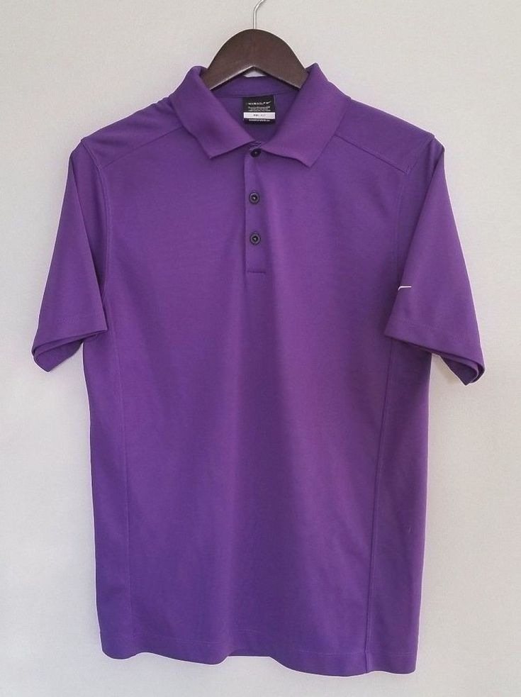 Nike Golf Men's Polo Small S Purple Dri Fit Sport Athletic #NikeGolf #ShirtsTops