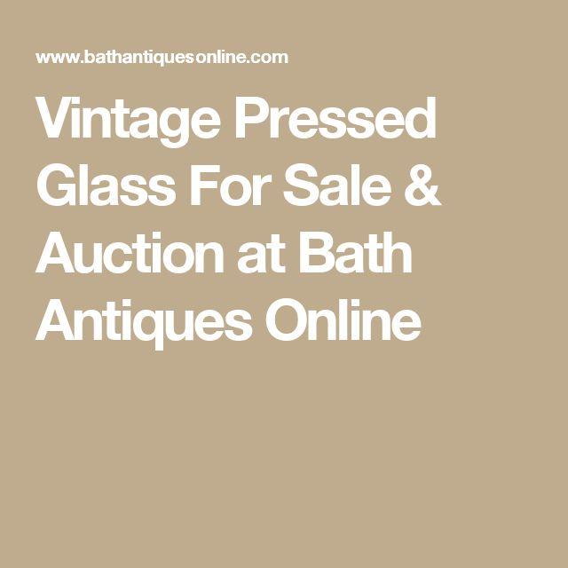 Vintage Pressed Glass For Sale & Auction at Bath Antiques Online