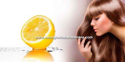 Loción casera para el cabello a base de limón