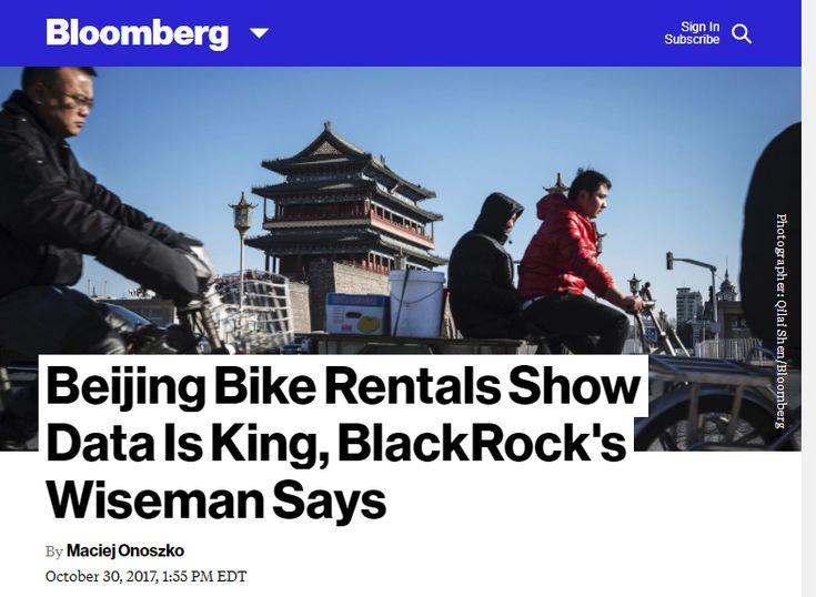 Beijing Bike Rentals Show Data Is King, BlackRock's Wiseman Says