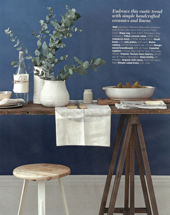 Natural and rustic dining. Styling by Emma Clayton | Photography by Mark Scott