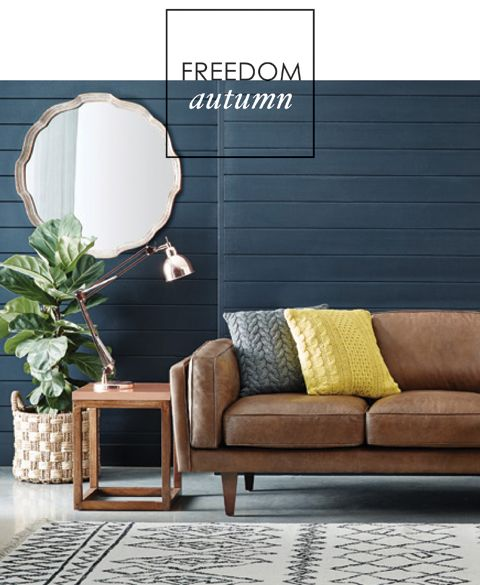 shade of dark blue fiddle leave via Adore Home magazine - Freedom's Autumncollection