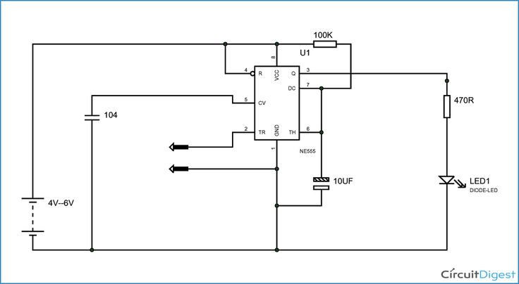 It Is A Simple Touch Switch Circuit Diagram Which Glows The Led When We Touch A Finger On The