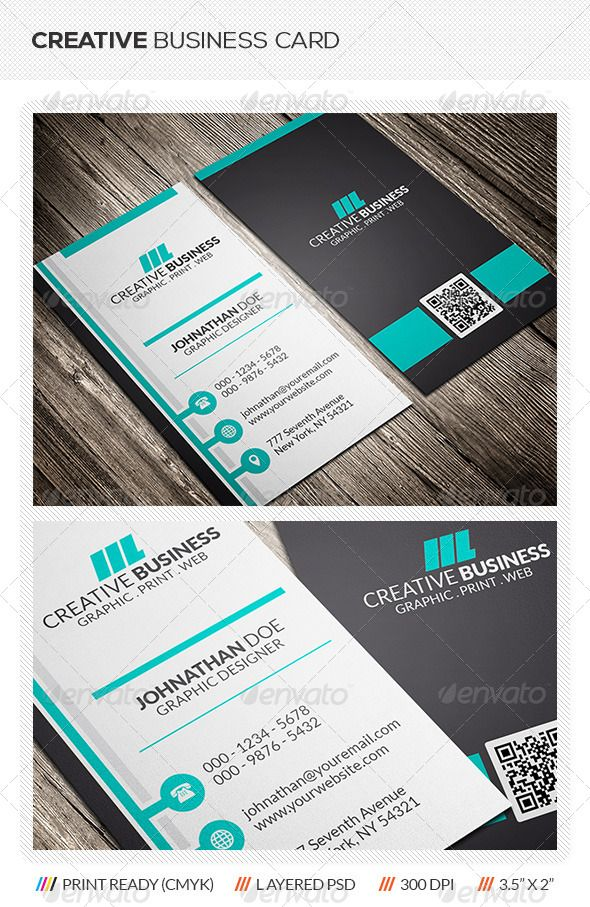 Business Card Template This creative corporate business card template ...