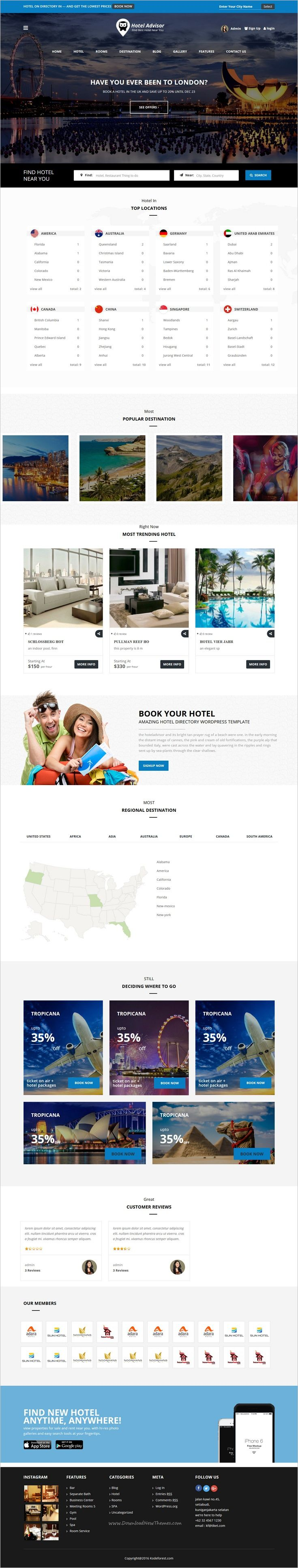 Hotel Advisor is a clean and modern design 6 in 1 #WordPress theme to manage #hotels, resorts, rooms reservation with in depth review and #booking management system website download now➩  https://themeforest.net/item/hotel-advisor-hotel-management-and-booking-wordpress-theme/18435488?ref=Datasata