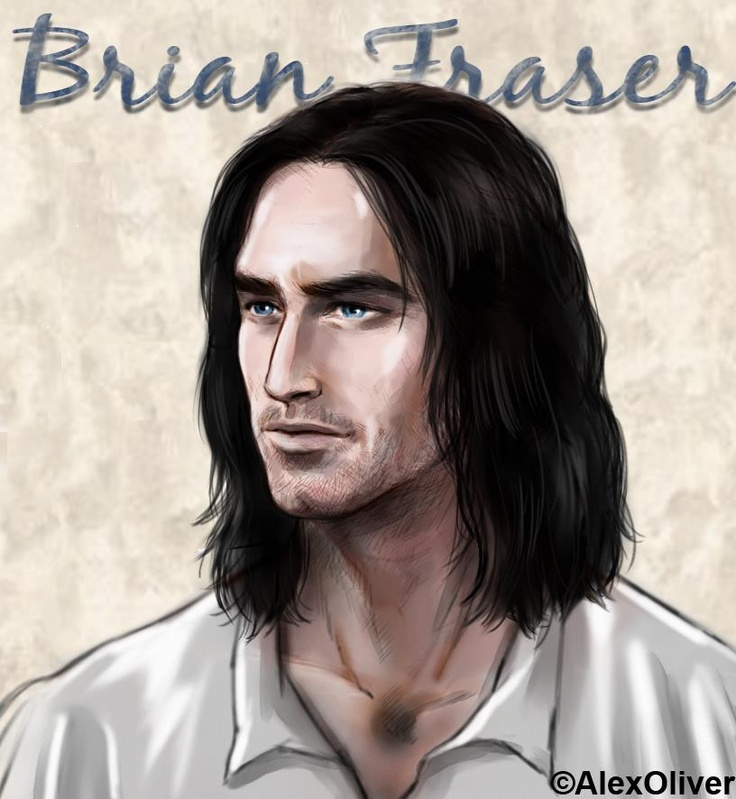 Jamie Fraser's Father, Brian Fraser original art by Alex Oliver.  So fascinating how similar Alex's vision of him is to the actor, Andrew Whipp, who has been cast to portray him.