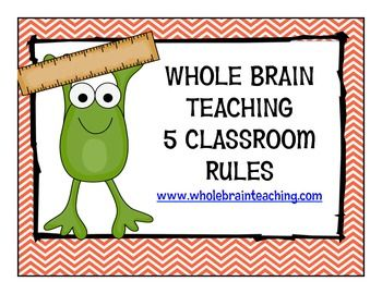 Frog themed Whole Brain Teaching Class Rules on TpT by Mrs Spriggs Pond