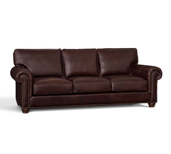 Webster Leather Sofa | Pottery Barn