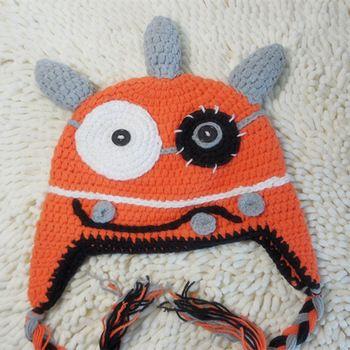 Chapéu de crochê bebê dos desenhos animados personagens chapéu três ângulo um pouco de crochê chapéu monstro - ID do produto : 1903788812 - m.portuguese.alibaba.com