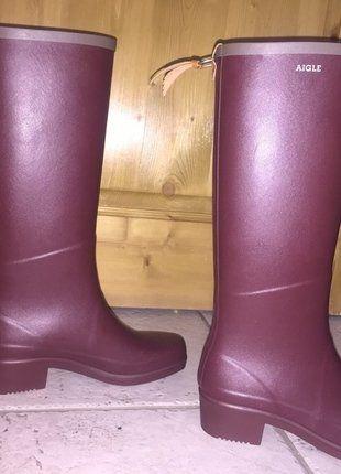 À vendre sur #vintedfrance ! http://www.vinted.fr/chaussures-femmes/bottes-and-bottines/27679679-bottes-caoutchouc-aigle-couleur-erable
