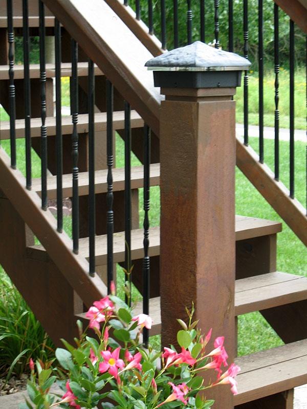 59 best deck lighting images on pinterest backyard ideas deck deck lights using low voltage lighted post caps under railing led lights and step lights aloadofball Images