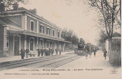 La gare de Bourg-Saint-Andéol (CP Lang)