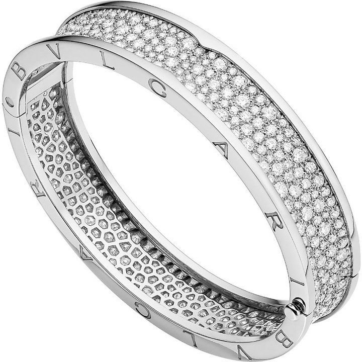 Bvlgari B.zero1 18kt White-Gold and Diamond Bangle