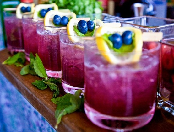 blueberry mint martini.Blueberries Mojito, Signature Drinks, S'More Bar, S'Mores Bar, Colors Palettes, Bridal Parties Colors, Wedding Blog, Wedding Drinks, Blueberries Mint