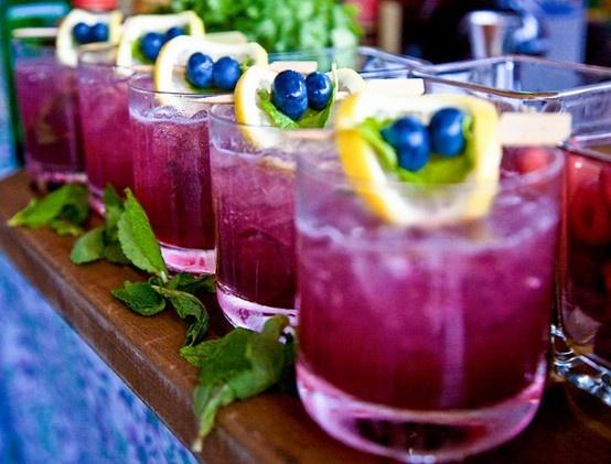 blueberry mint martini. | Signature Drinks | Pinterest