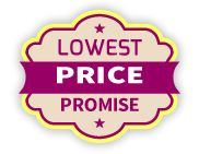 We promise for best price. If you find a lower price on the same item elsewhere, we will meet or beat that price by up to 10%.