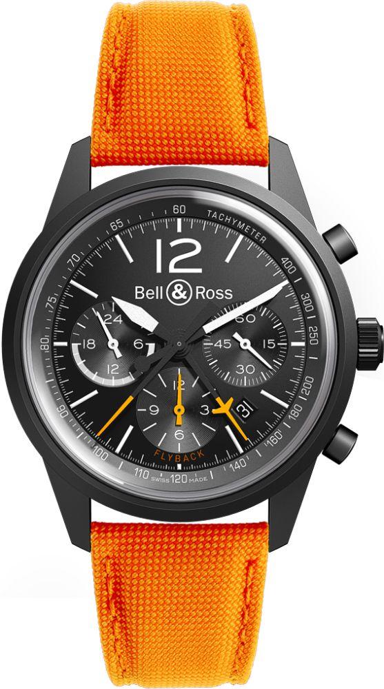 Bell & Ross BR126 Blackbird on Orange Strap