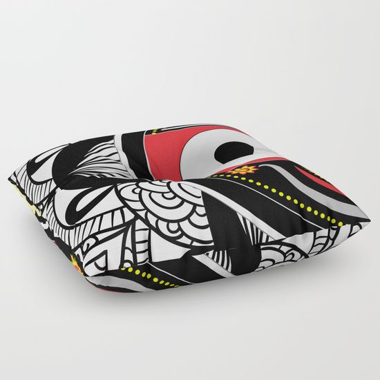 Pillow cover #Jagannath #Home  #decor #black #white #red