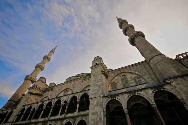 Outside the Blue Mosque in Istanbul, Turkey by Frozen Canuck, via Flickr