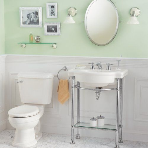 console sink top with 8 inch faucet spacing white home improvement