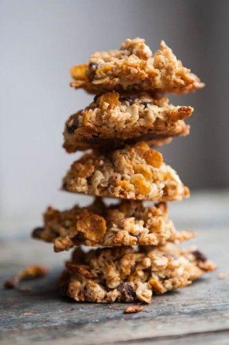 Haferflockenkekse mit Cornflakes und Schokolade - mal was anderes - http://kuechenchaotin.de/weihnachts-muesli-kekse/