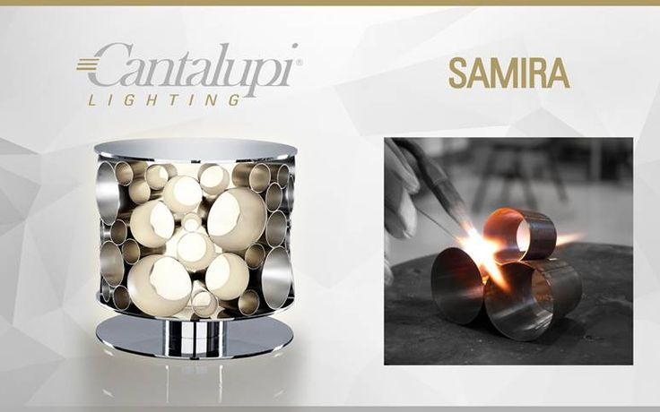 Samira is a table lamp made by Cantalupi Lighting in collaboration with Andrea Borzelli & Sara Berta Architetti.  It is considered an icon within the interior design of Cantalupi Lighting table lamps and its intrinsic feature of cohesion between different materials and shapes stands out the beauty of craftsmanship and industrialization.