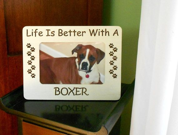 Pet Engraved Photo Frame breed of dog frame Life by CarvedByHeart #promotingwomen
