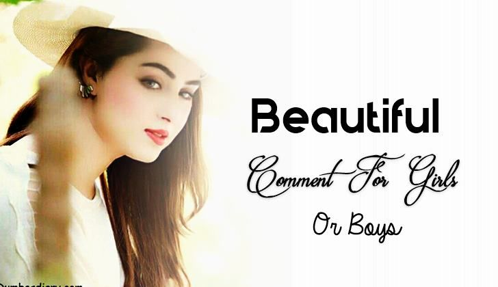 Beautiful Comment For Girls And Boys Photo On Fb Wwwblognetbook