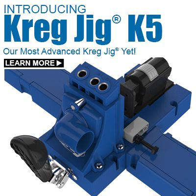 The Kreg Jig® K5 offers advanced features for building with wood!