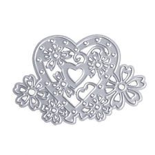 Flower Heart Metal Cutting Stencils Dies Scrapbooking Craft Album Card DIY Decor
