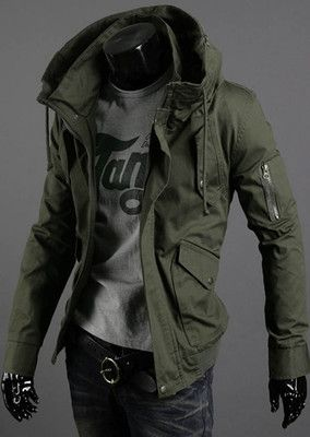 Mens Slim Fit Sexy Top Designed Hoodies Jackets Coats Tops 3Color SML S1248 | eBay