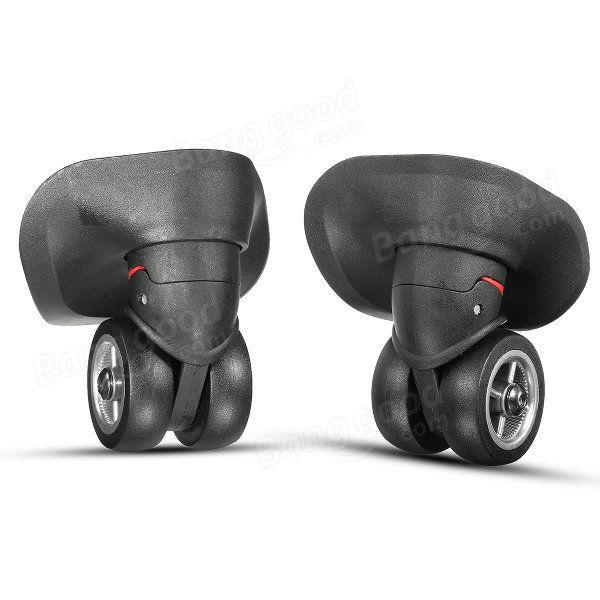 2pcs maleta de equipaje negro ruedas universales de repuesto con tornillos Venta - Banggood.com