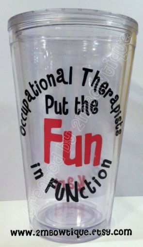 My latest creation! Personalized Tumbler Cups -- Occupational Therapists Put The Fun In Function