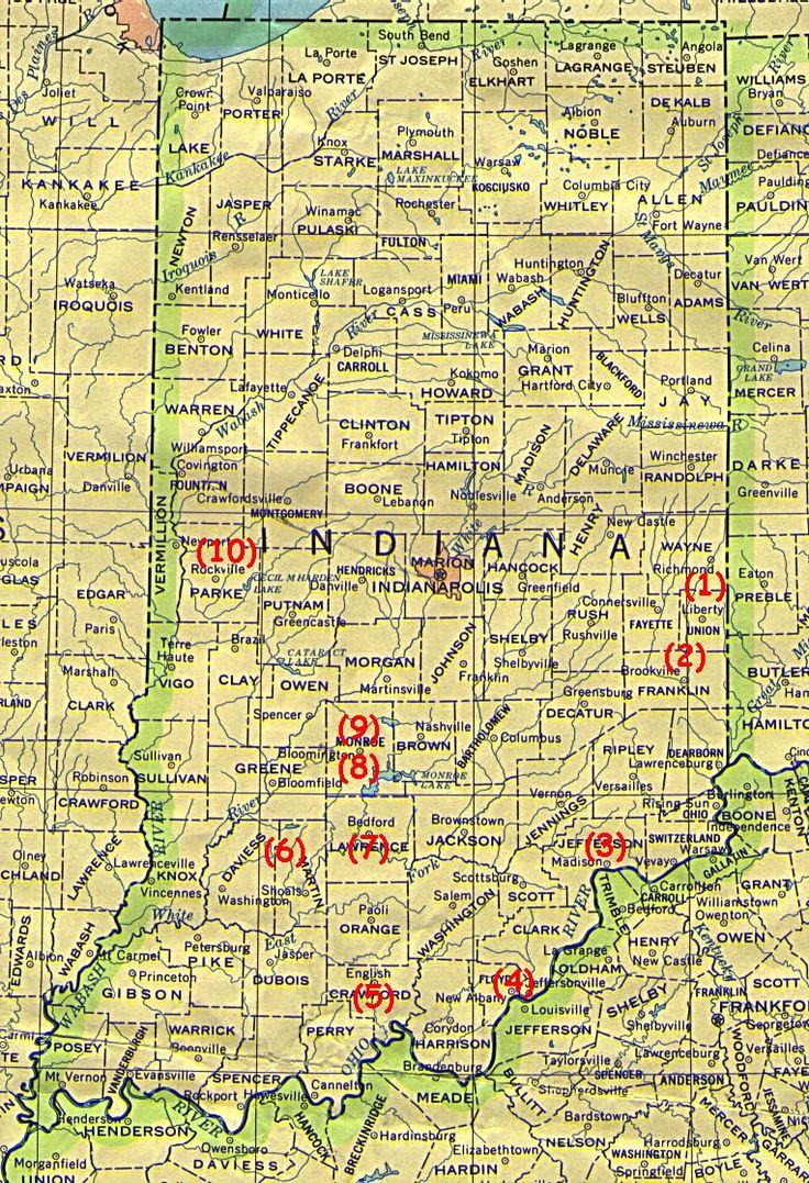 Best Indiana Its A State Of Mind Images On Pinterest - Road map of indiana