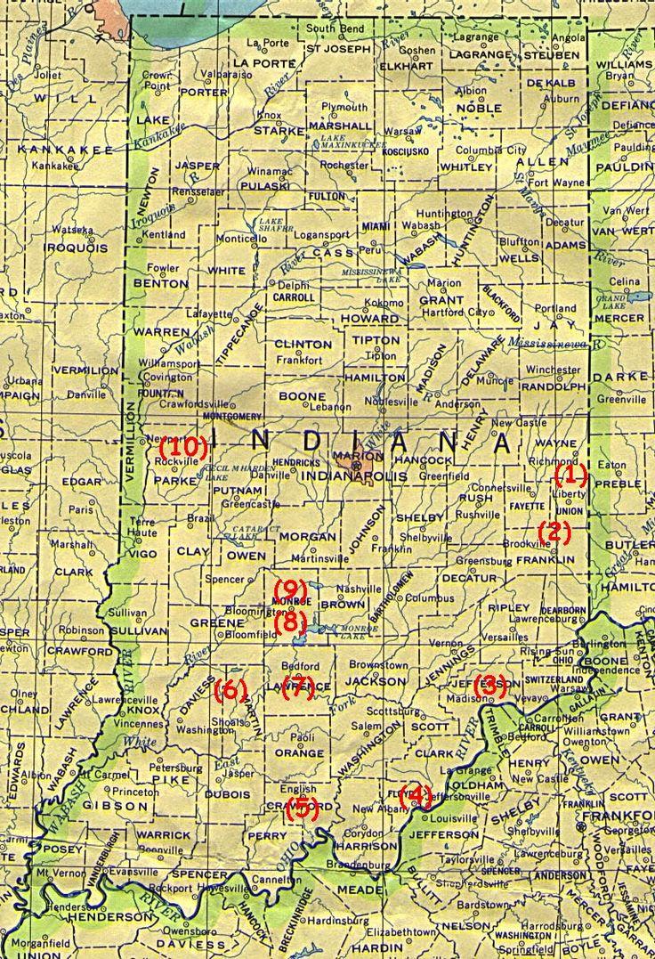 Us Map Indiana