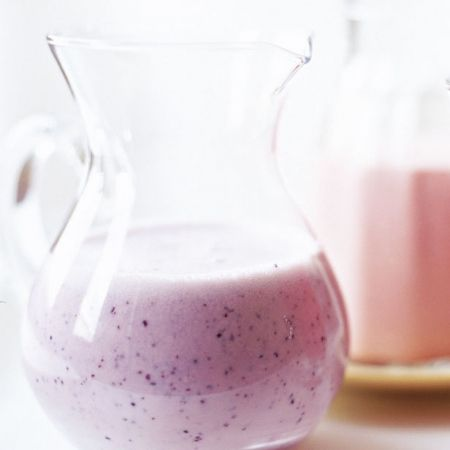 Blueberry, banana and yoghurt smoothie. For the full recipe, click the picture or visit RedOnline.co.uk