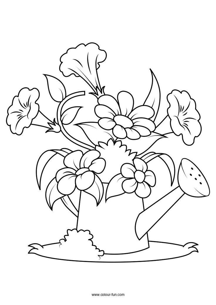 Pin By Kristen Morgan On Dibujos Para Bordar Flower Coloring Pages Colouring Pages Free Coloring Pages