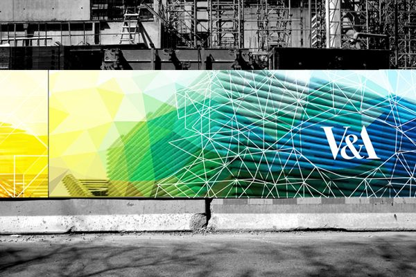 V&A museum construction hoarding concept by Wade Veldsman, via Behance