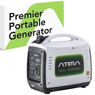 """""""Features & Benefits"""" Atima SD2000i 2000 Watt Small Quiet Portable Inverter Generator, Carb Compliant Gas-Powered for RV Camping or Home Use"""