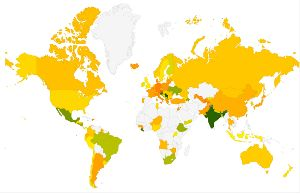 RTI Ratings of all countries