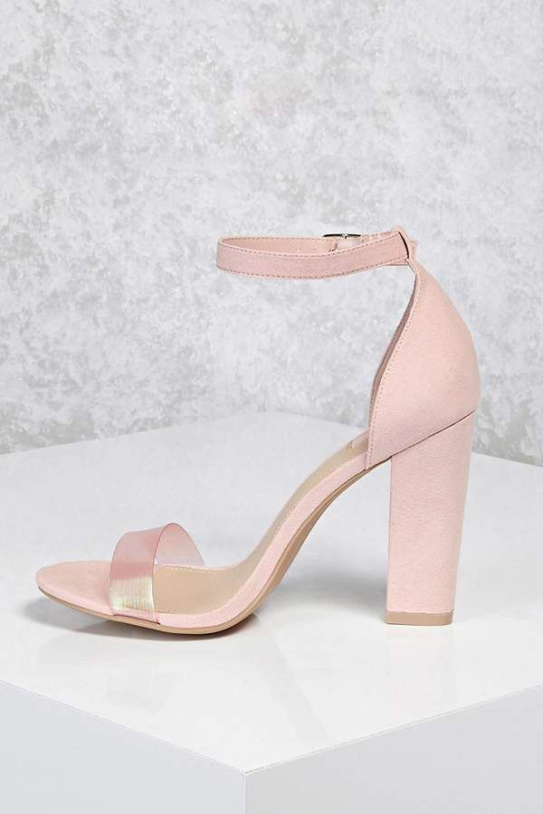 e2fd8495a3 Forever 21 Iridescent Strap Heels (Wide) | Adult Colors | Sandals ...