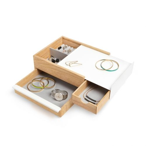 Umbra - Stowit ékszertartó doboz (natúr/fehér)