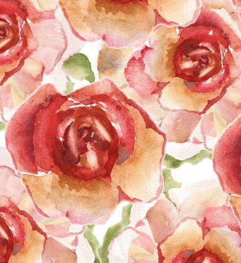 A Watercolor Rose painted by Susara Küsel.