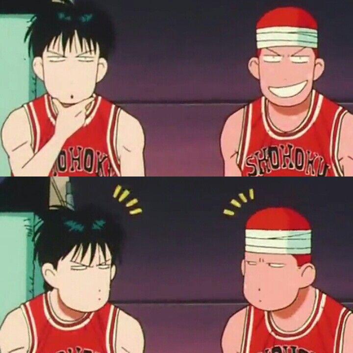 The Rivals, Rukawa Kaede and Sakuragi Hanamichi #slamdunk #basket #anime #japan #chibi #manga