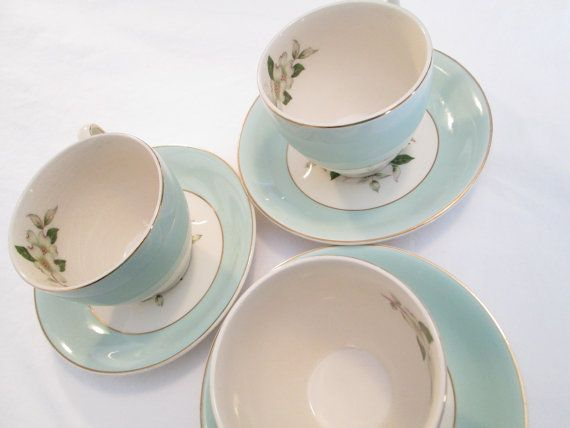 Vintage Johnson Brothers China Cup & Saucer - Set of 3