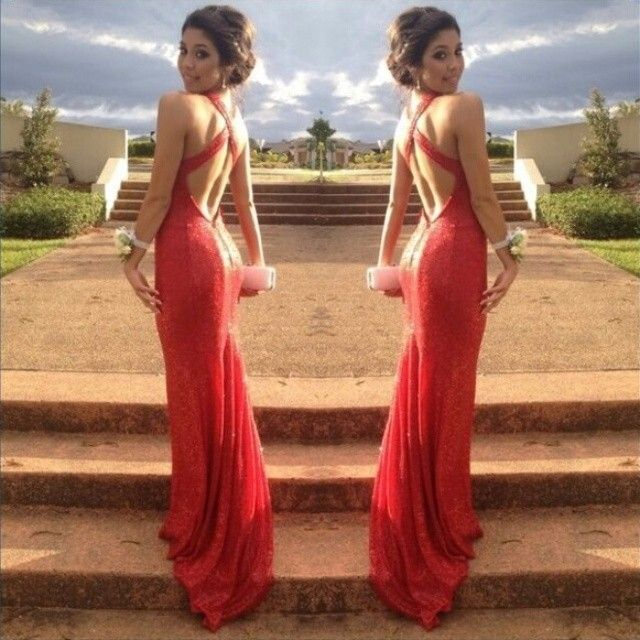 Sparkly Red vestidos de fiesta 2014 Long Sexy Cross Straps Backless Mermaid Special Occasion Prom Dresses