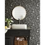 Magnolia Home by Joanna Gaines 56 sq.ft. Fox and Hare Wallpaper, Straight Black