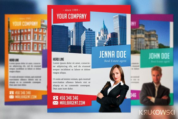 Check Out Real Estate Agent Flyer By Krukowski On Creative Market